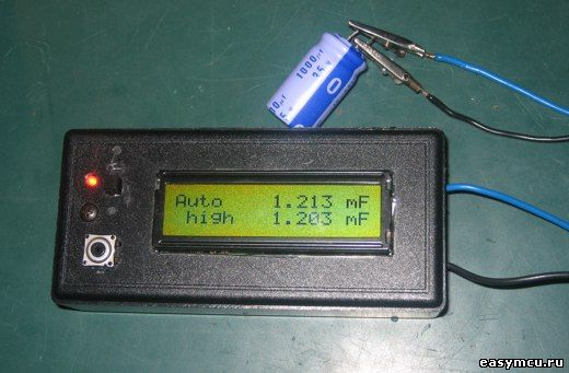 Измеритель емкости конденсаторов на микроконтроллере